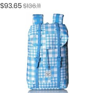 Herschel 'Retreat' Backpack Gingham Alaskan Blue